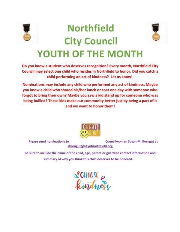 Northfield City Council Youth of the Month